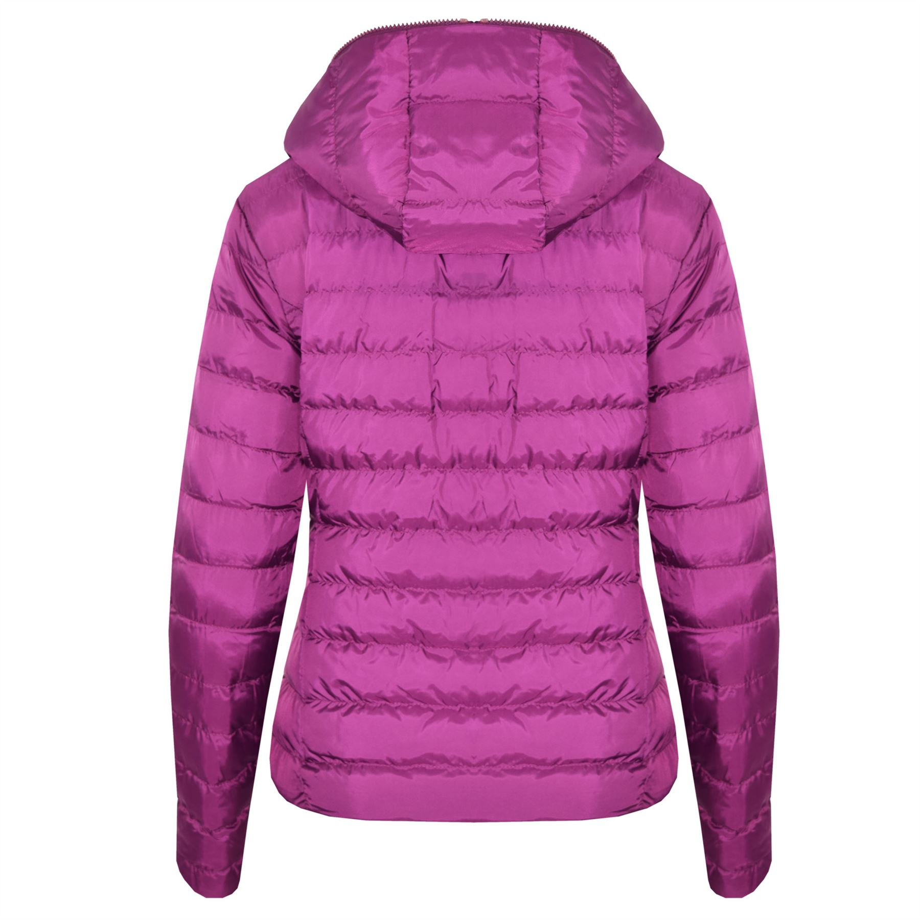 New-Womens-Hooded-Reversible-Puffa-Zip-Up-Quilted-Padded-Coat-Jacket thumbnail 7