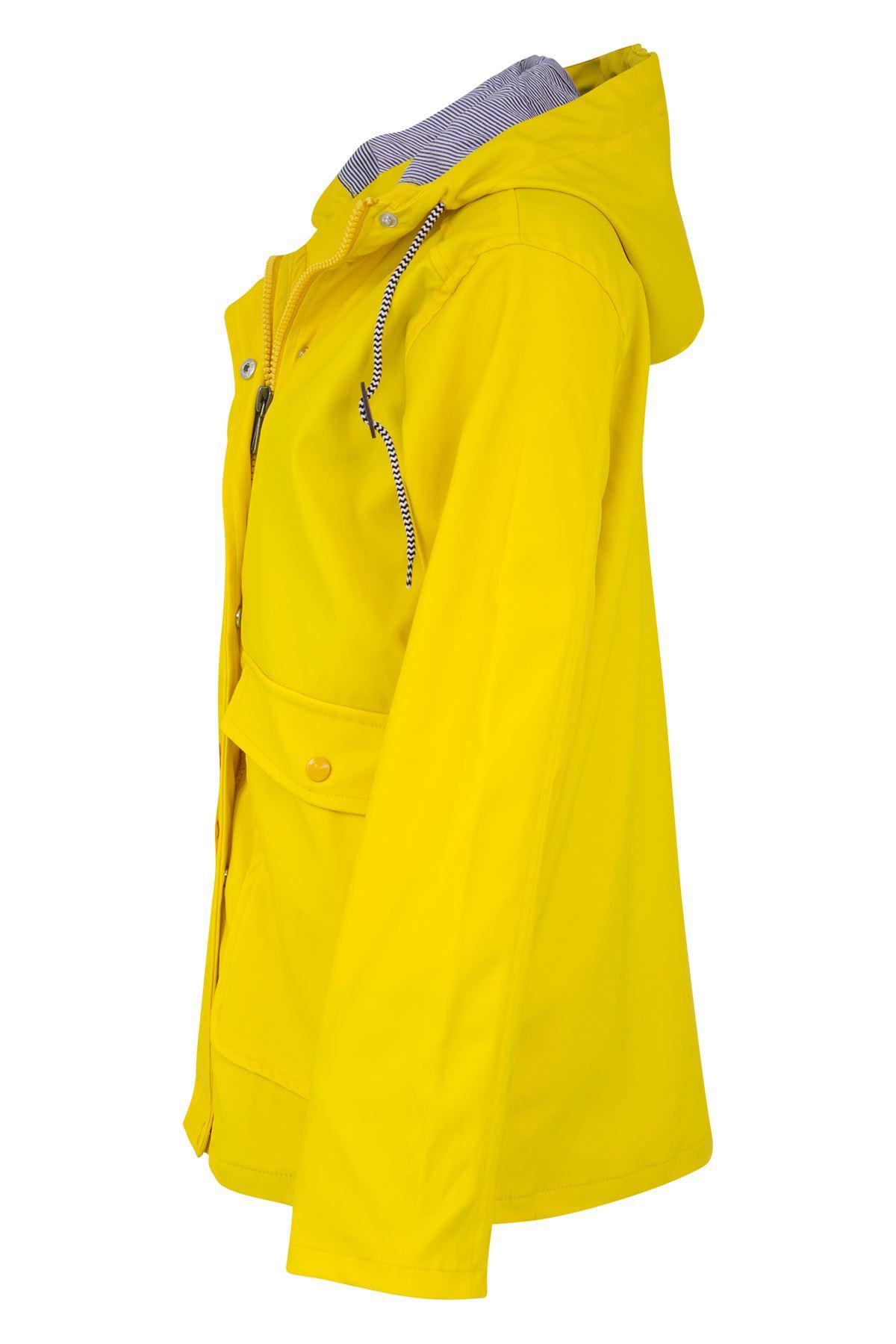 Womens-Ladies-Yellow-Festival-Water-proof-Rain-Outdoor-Mac-Raincoat-Jacket-Size thumbnail 9