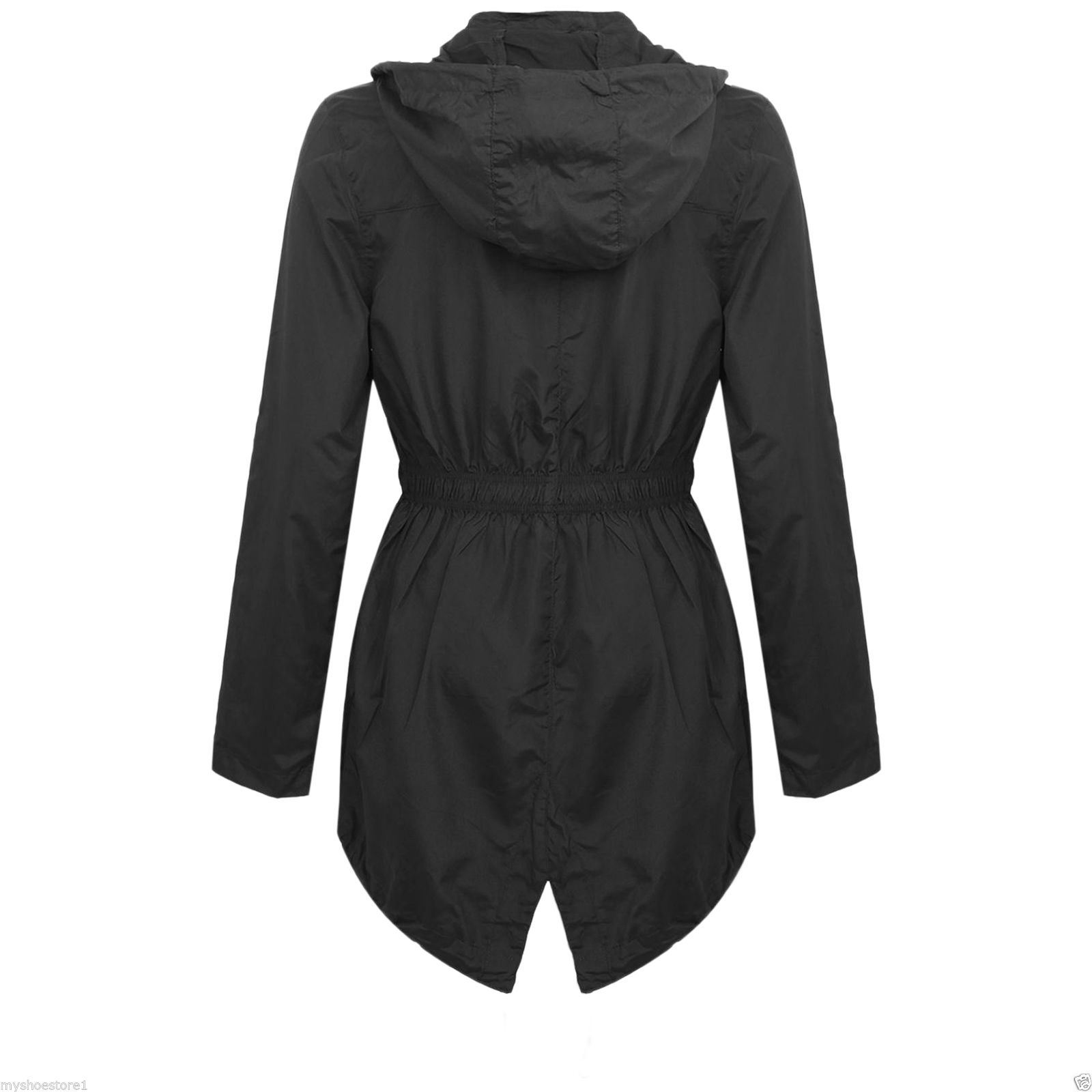 huge inventory largest selection of 2019 new collection Details about New Womens Plus Size Light Showerproof Rain Jacket Hooded Mac
