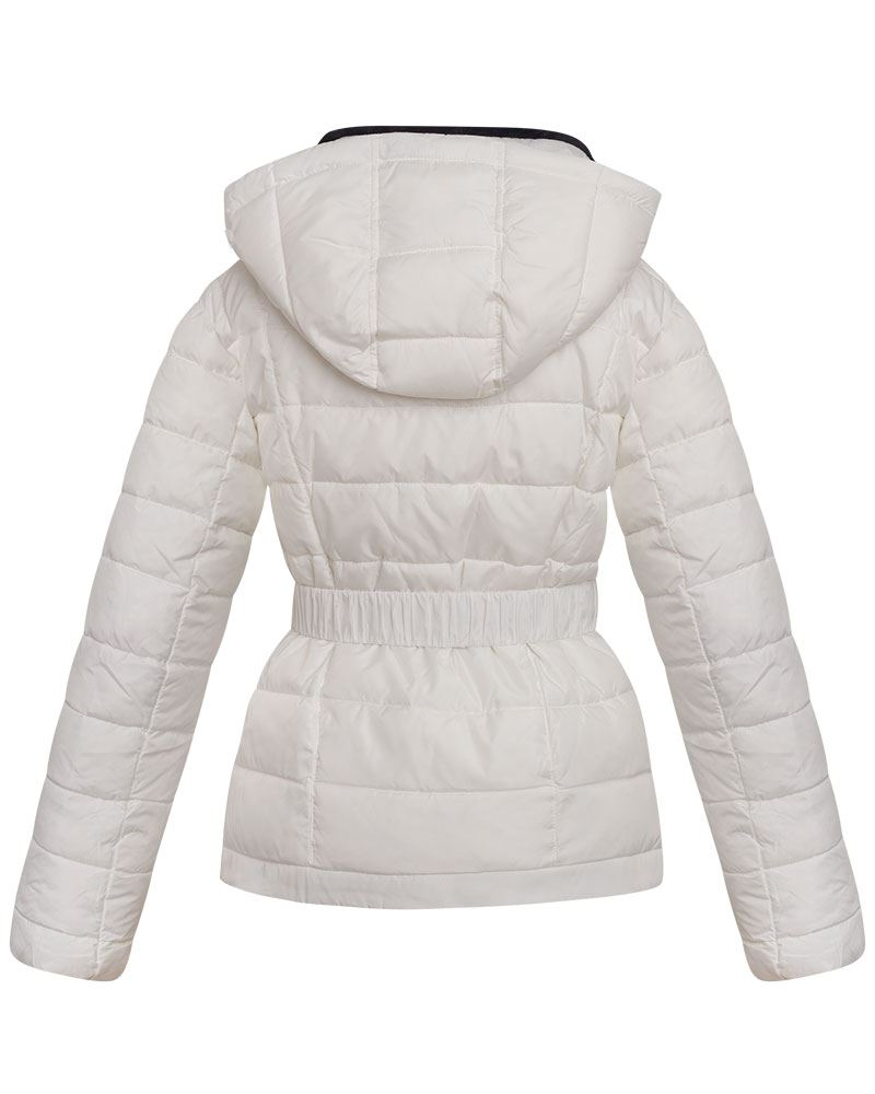 Womens-Ladies-Black-Hood-Belted-Fur-Collar-Zip-Up-Quilted-Puffer-Jacket-Coat thumbnail 9