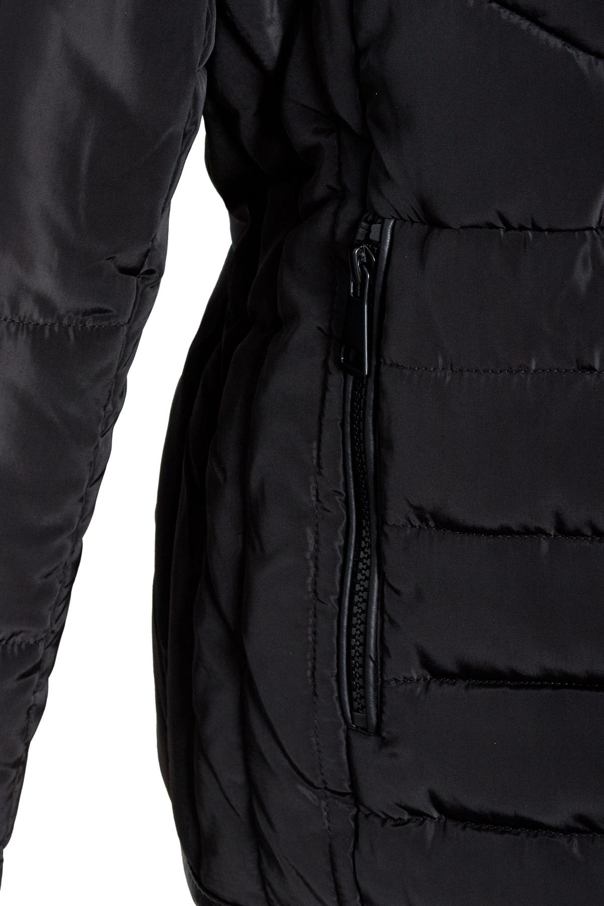 Shelikes-Womens-Ladies-Quilted-Padded-Winter-Warm-Fur-Parka-Jacket thumbnail 3