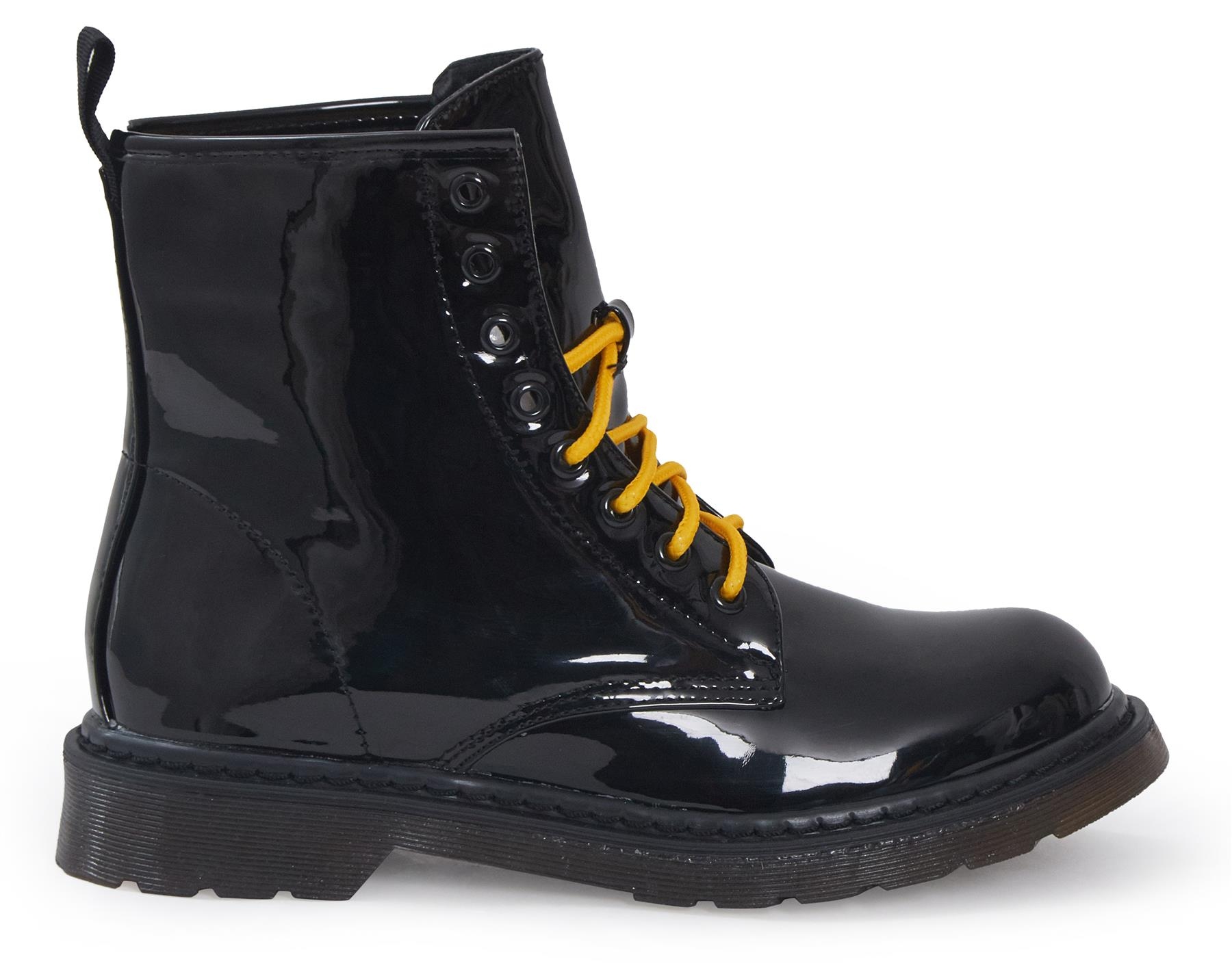 Shelikes-Womens-Ankle-Boots-Vintage-Combat-Army-Flat-Lace-Up-Work-Military-Biker thumbnail 10