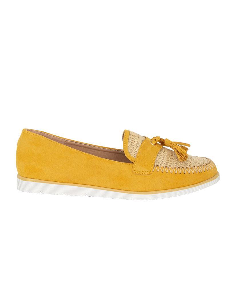 Ladies-Slip-On-Tassle-Suede-Flat-Loafers-Brogues-Slider-Summer-Womens-Shoes thumbnail 10