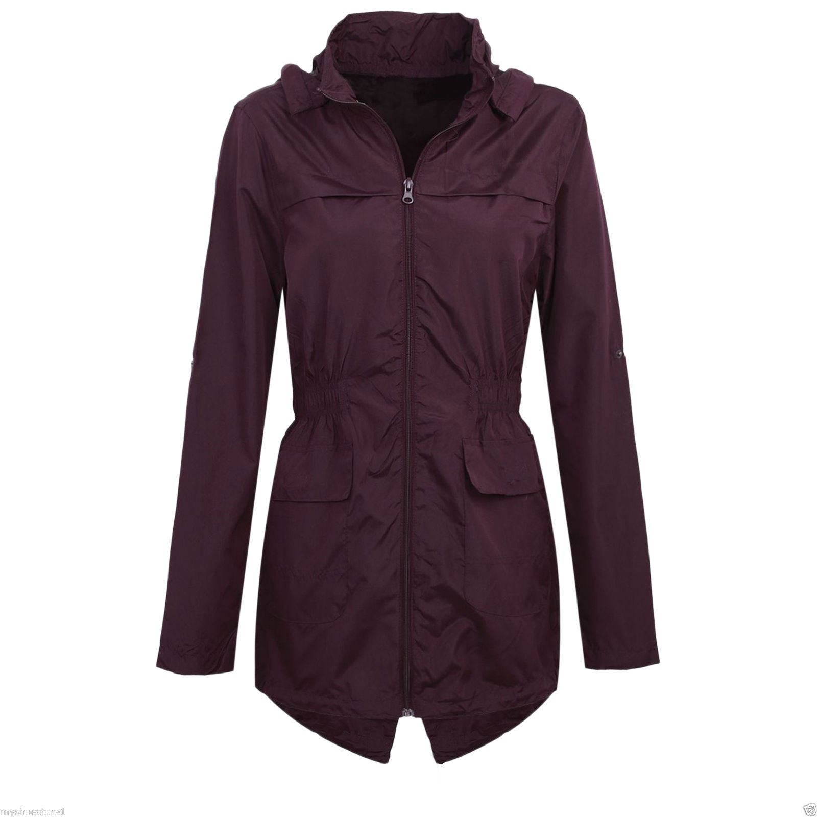 Plus Size Lightweight Rain Jacket
