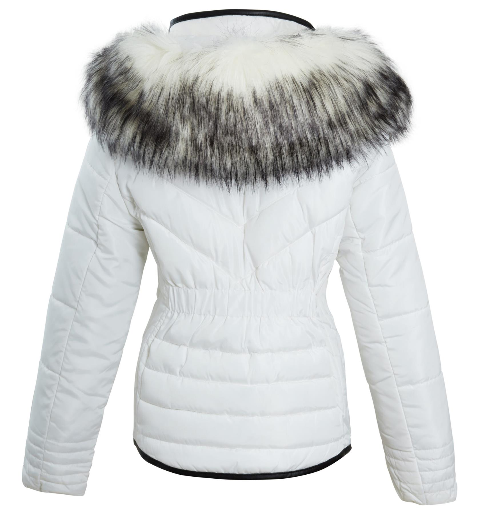 Shelikes-Womens-Ladies-Quilted-Padded-Winter-Warm-Fur-Parka-Jacket thumbnail 7