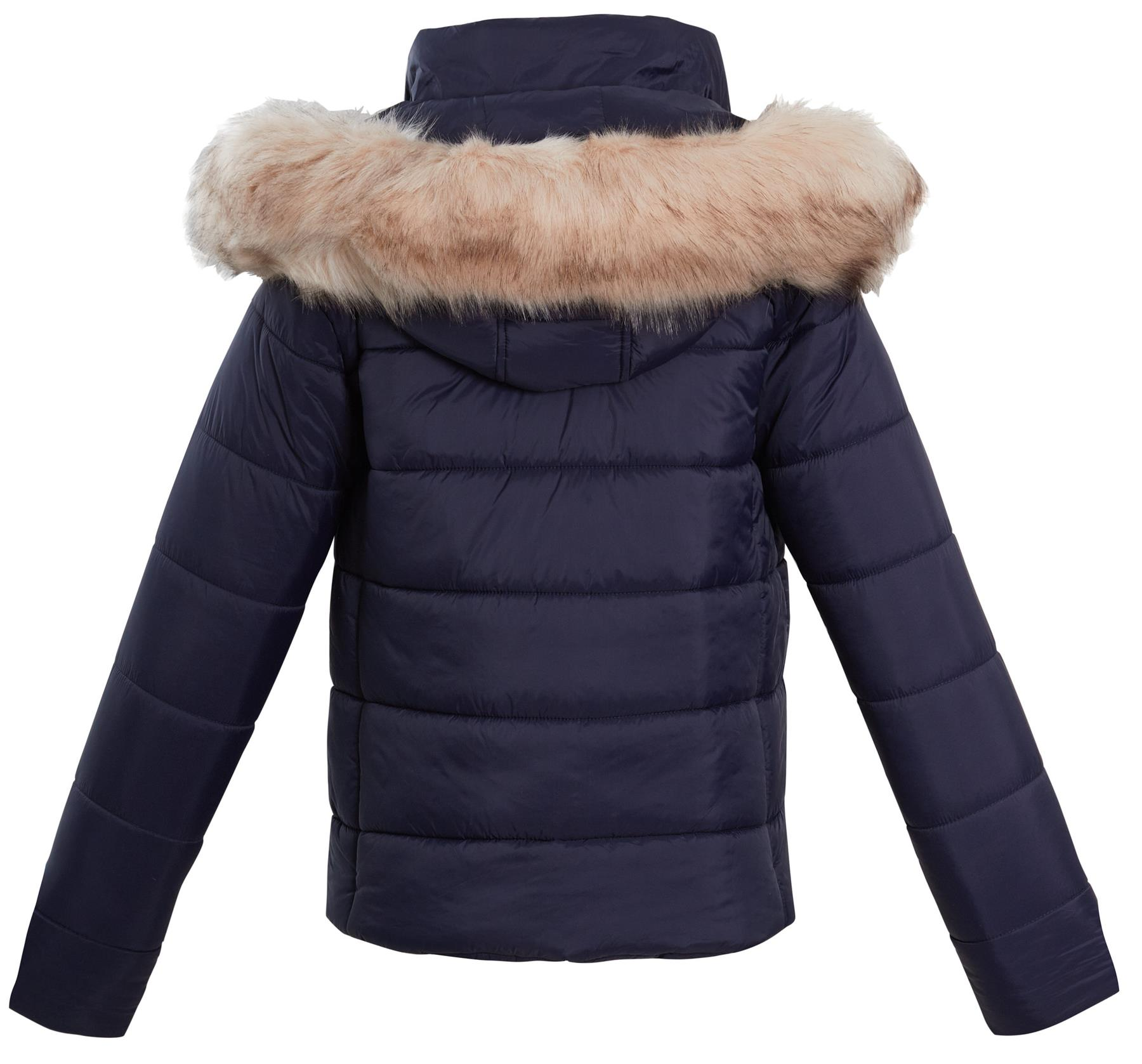 shelikes Womens Hooded Quilted Winter Coat Sizes UK 8 10 12 14 16