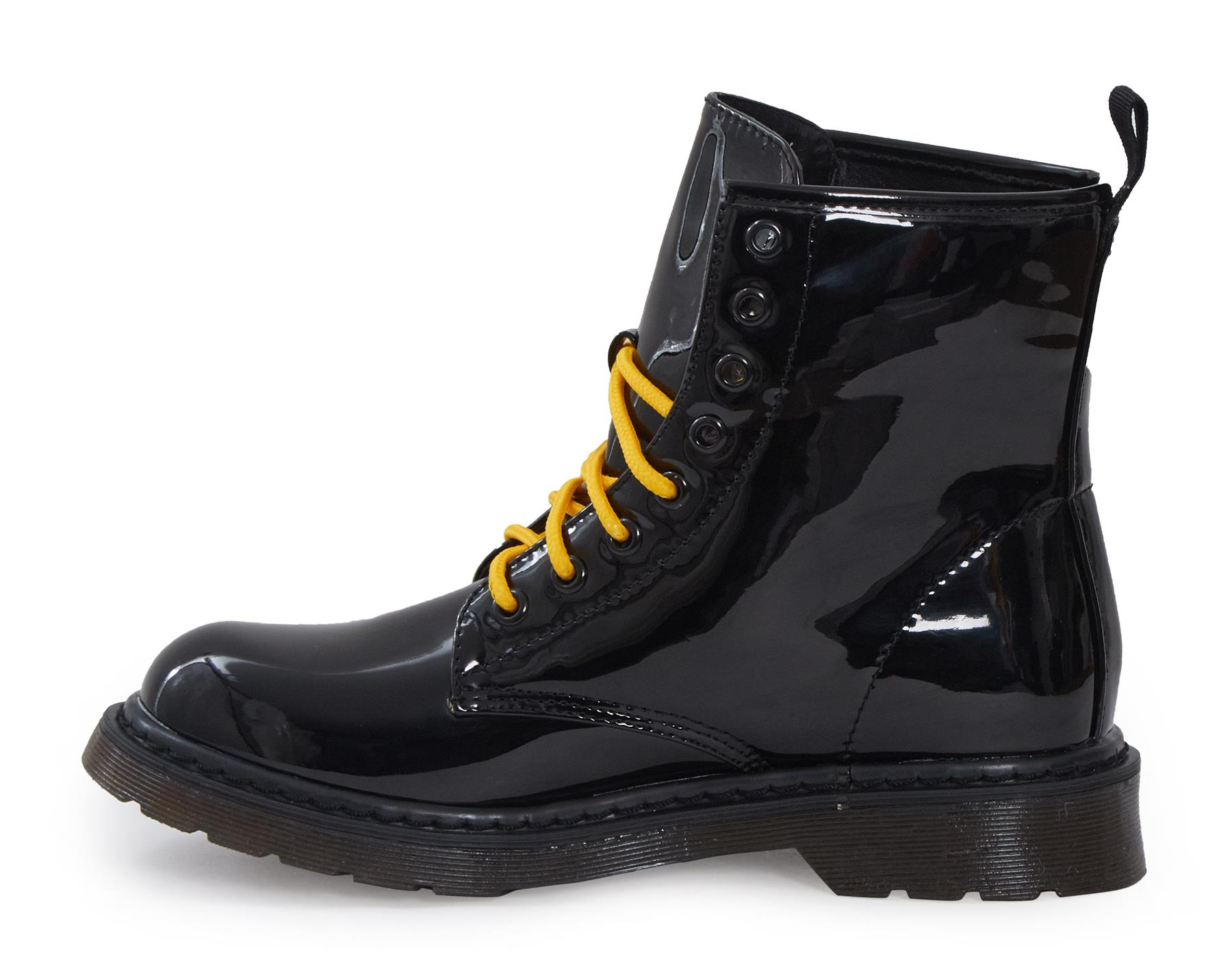 Shelikes-Womens-Ankle-Boots-Vintage-Combat-Army-Flat-Lace-Up-Work-Military-Biker thumbnail 11