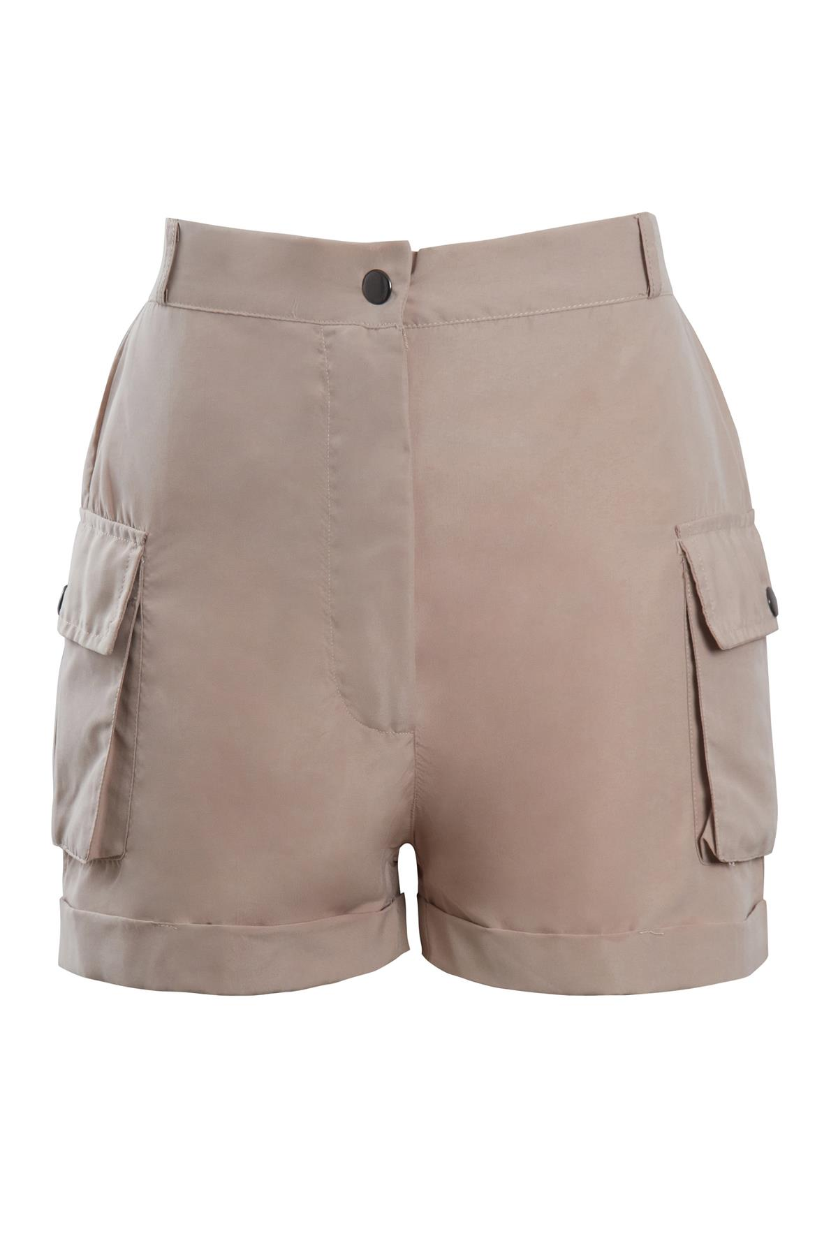 Shelikes-Womens-Cargo-Crop-Top-Shorts-Co-ord-Festival-Tie-Front-Pocket-Set thumbnail 24