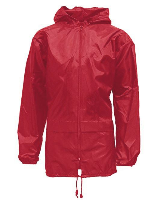 5308eb23489 Mens Womens Unisex Plus Size Kagool Lightweight Rain Coat Jacket Cherry Red  Small. About this product. Picture 1 of 2  Picture 2 of 2
