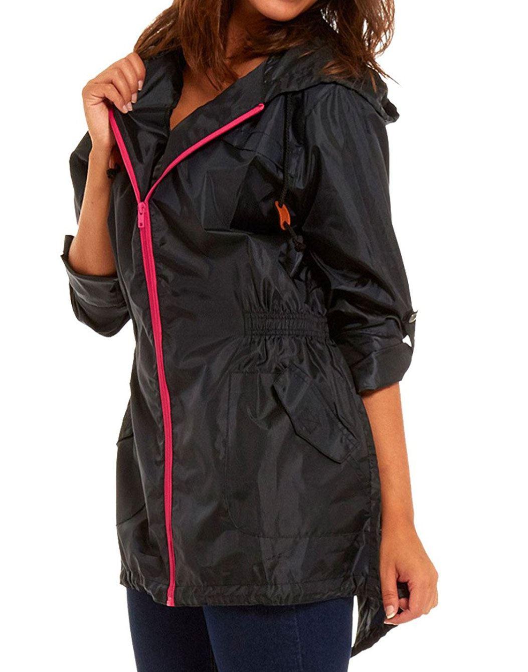 Womens Lightweight Rain Mac Festival Fishtail Parka Jacket Kagool
