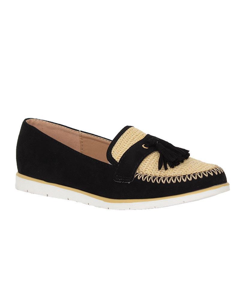 Ladies-Slip-On-Tassle-Suede-Flat-Loafers-Brogues-Slider-Summer-Womens-Shoes thumbnail 3