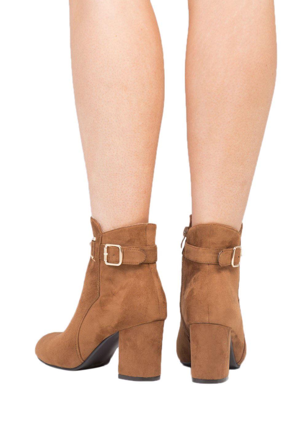 alla scamosciata Cintura invernali Stivaletti Pelle zip con con donna Scarpe cinturino sintetica caviglia da px47ff