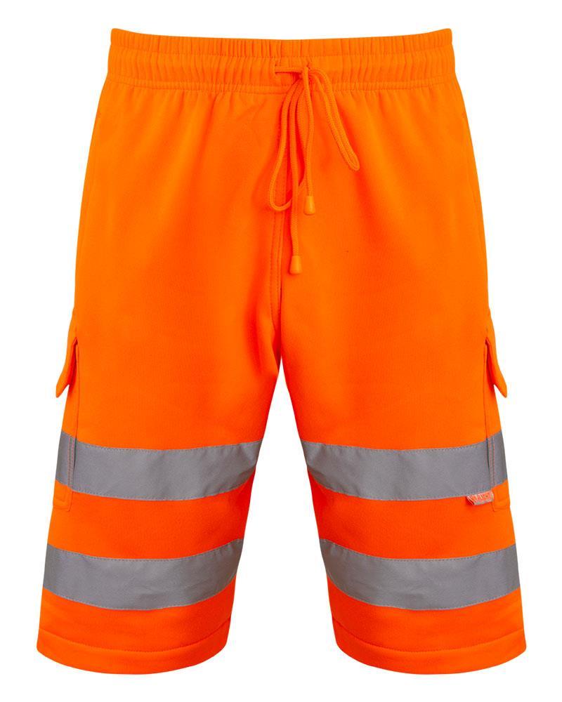 Mens-Hi-Viz-Vis-Visibility-Combat-Style-Cargo-Pocket-Work-Wear-Shorts thumbnail 4