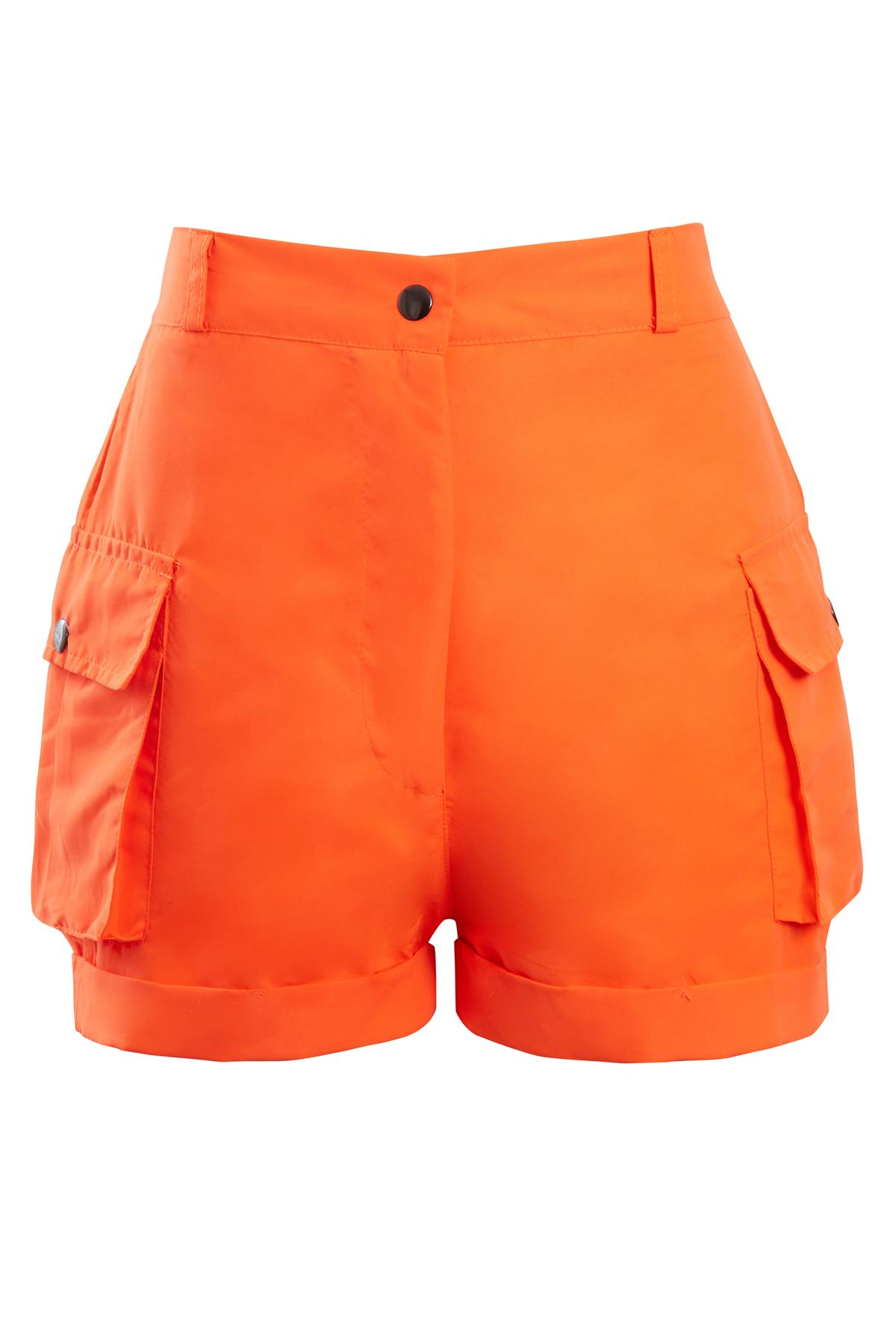 Shelikes-Womens-Cargo-Crop-Top-Shorts-Co-ord-Festival-Tie-Front-Pocket-Set thumbnail 17