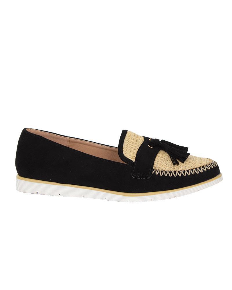 Ladies-Slip-On-Tassle-Suede-Flat-Loafers-Brogues-Slider-Summer-Womens-Shoes thumbnail 4