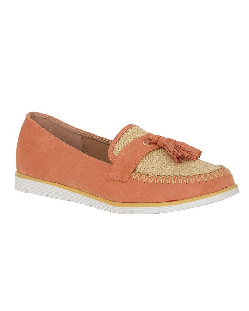 Ladies-Slip-On-Tassle-Suede-Flat-Loafers-Brogues-Slider-Summer-Womens-Shoes thumbnail 6