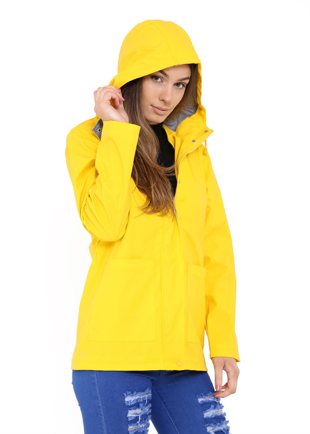 New-Womens-Lightweight-Rain-Trench-Coat-Jacket-Parka-Daily-Rain-Mac thumbnail 6