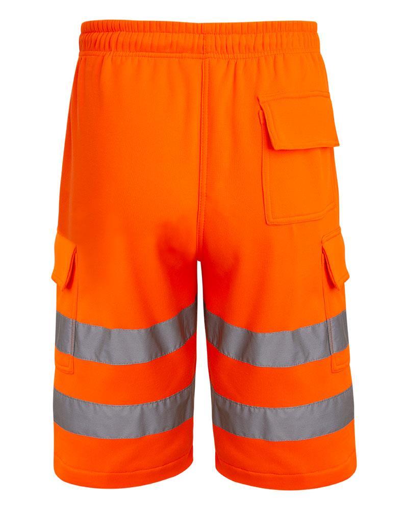 Mens-Hi-Viz-Vis-Visibility-Combat-Style-Cargo-Pocket-Work-Wear-Shorts thumbnail 3