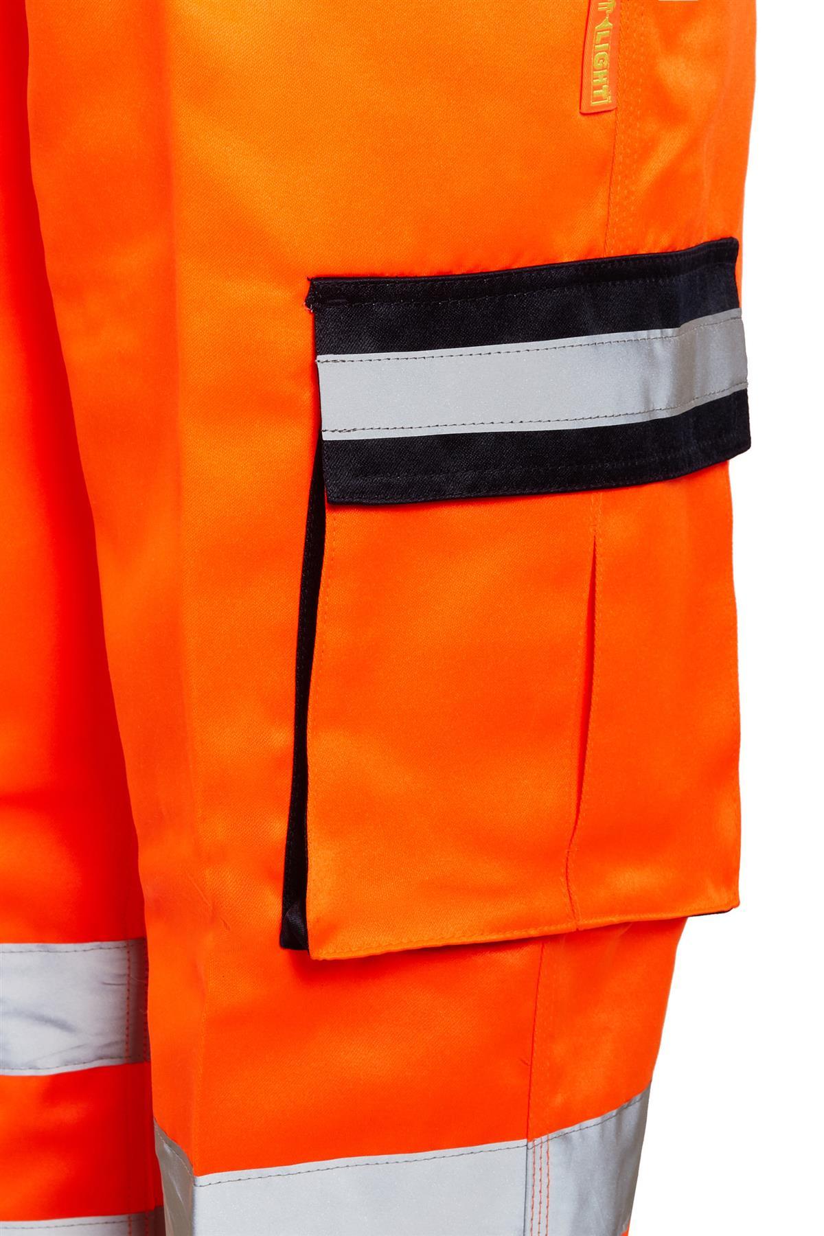 shelikes Mens Hi Vis Viz Combat Bottoms Safety Cargo Highways Railwa Trousers Workwear Pants