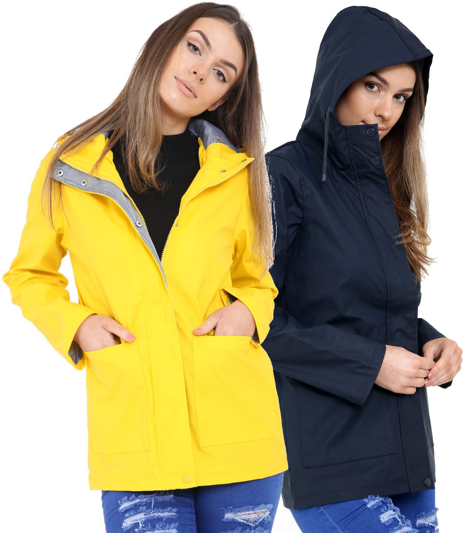 New-Womens-Lightweight-Rain-Trench-Coat-Jacket-Parka-Daily-Rain-Mac