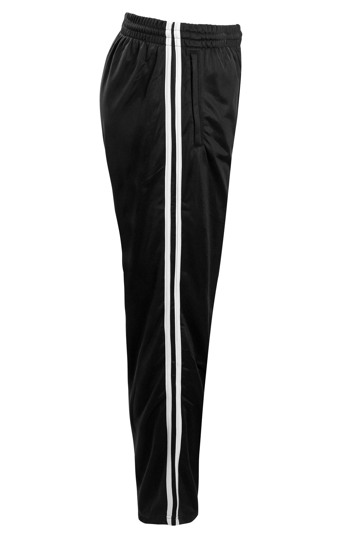 Mens-Tracksuit-Joggers-Jogging-Striped-Gym-Sports-Silky-Bottoms-Trousers-Pants thumbnail 6