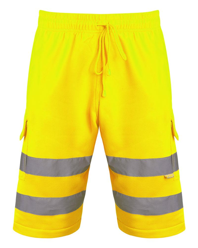 Mens-Hi-Viz-Vis-Visibility-Combat-Style-Cargo-Pocket-Work-Wear-Shorts thumbnail 7