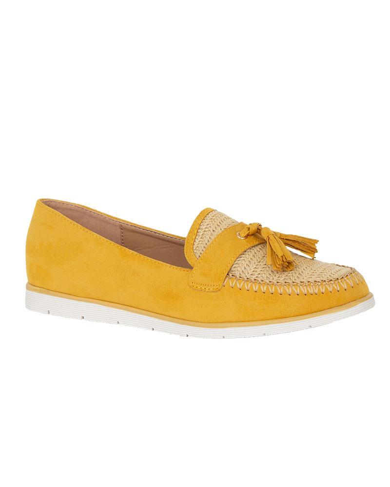 Ladies-Slip-On-Tassle-Suede-Flat-Loafers-Brogues-Slider-Summer-Womens-Shoes thumbnail 9