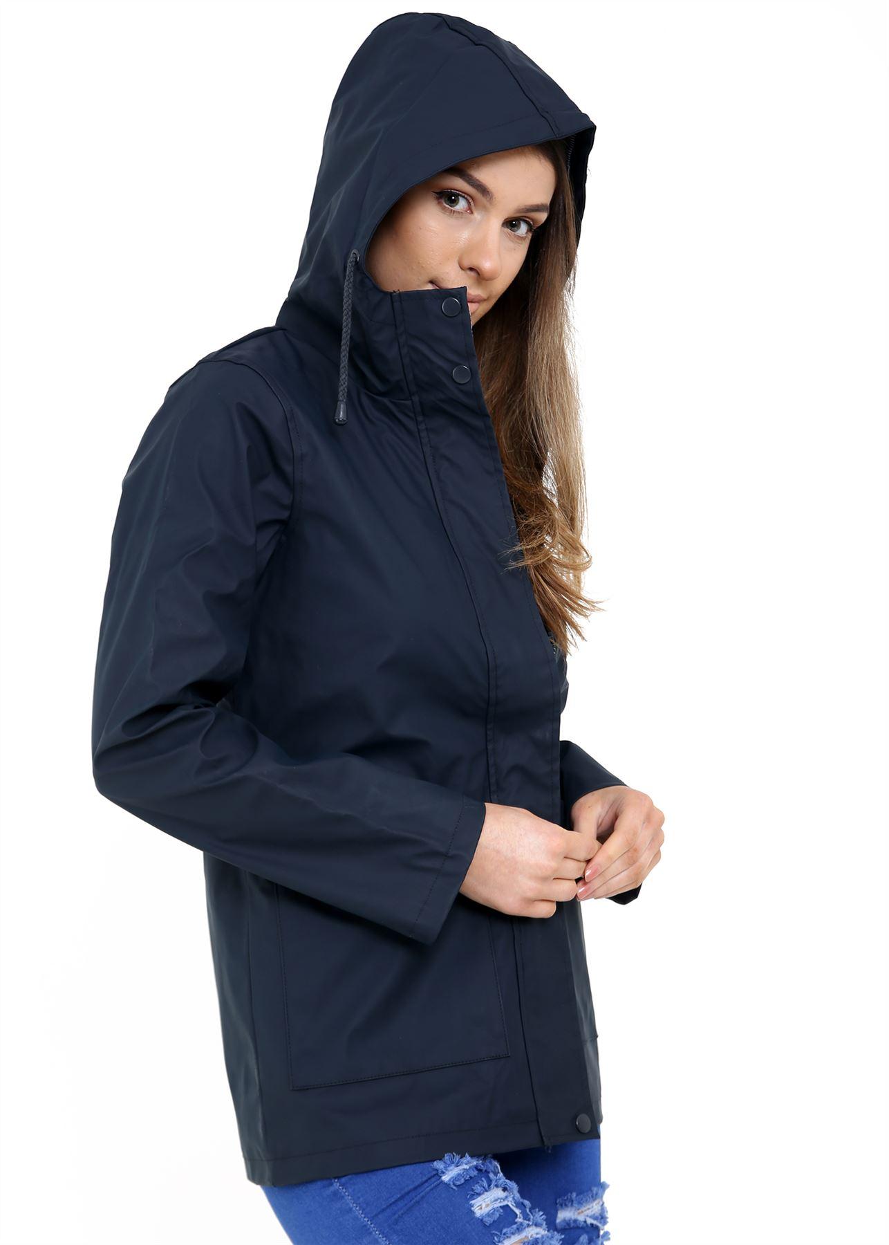 New-Womens-Lightweight-Rain-Trench-Coat-Jacket-Parka-Daily-Rain-Mac thumbnail 3