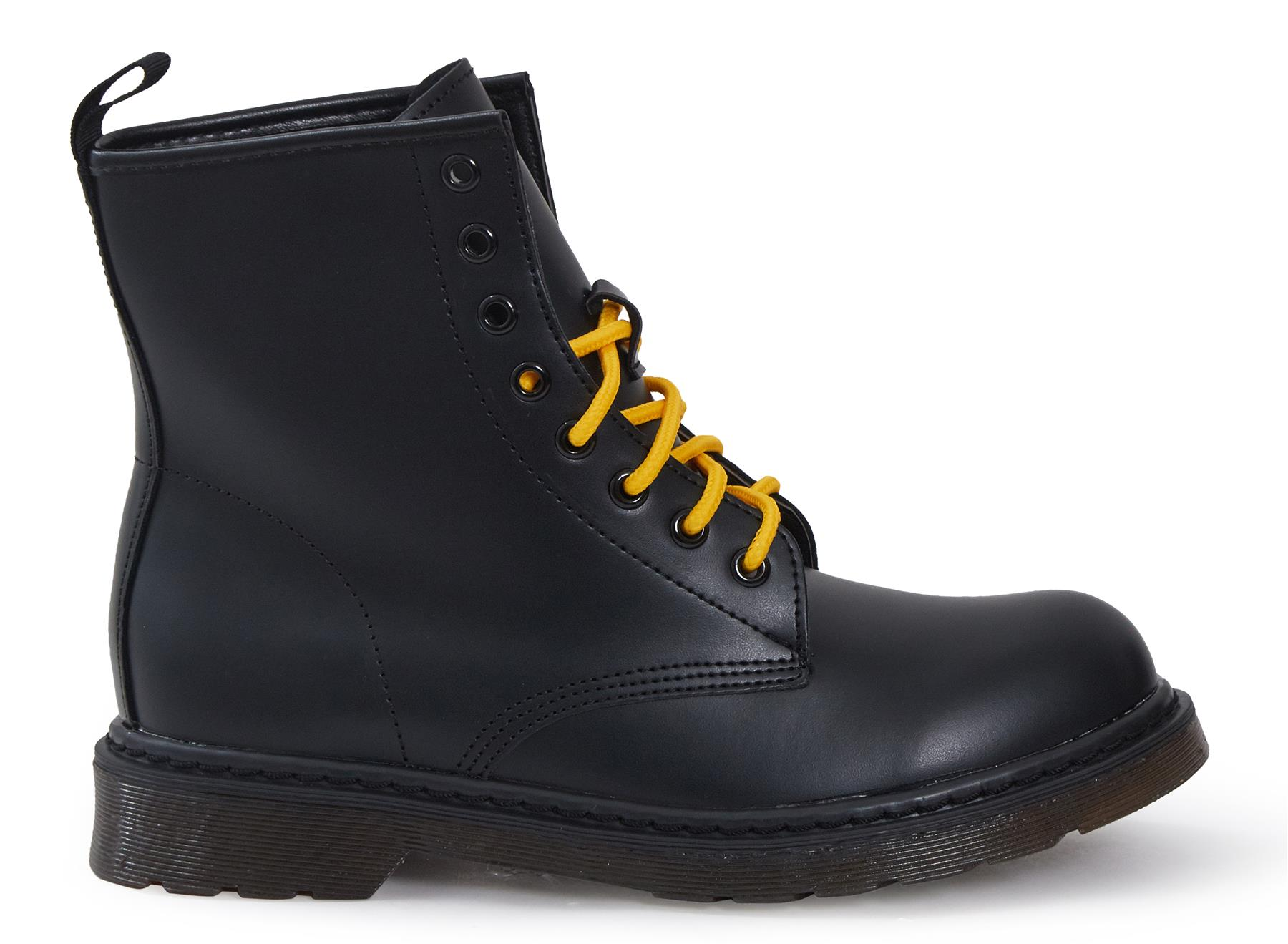 Shelikes-Womens-Ankle-Boots-Vintage-Combat-Army-Flat-Lace-Up-Work-Military-Biker thumbnail 4