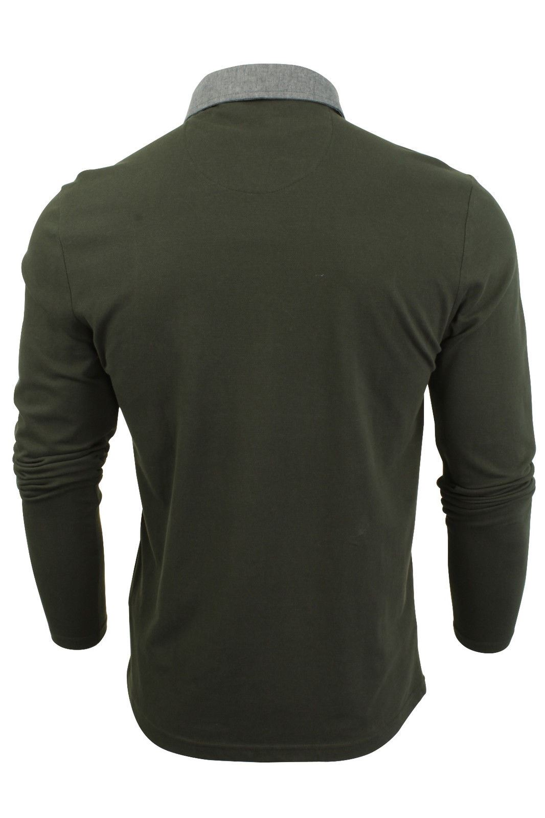 New-Mens-Button-Up-Long-Sleeve-Pique-Collared-Casual-Formal-Polo-Jumper-Shirt thumbnail 5