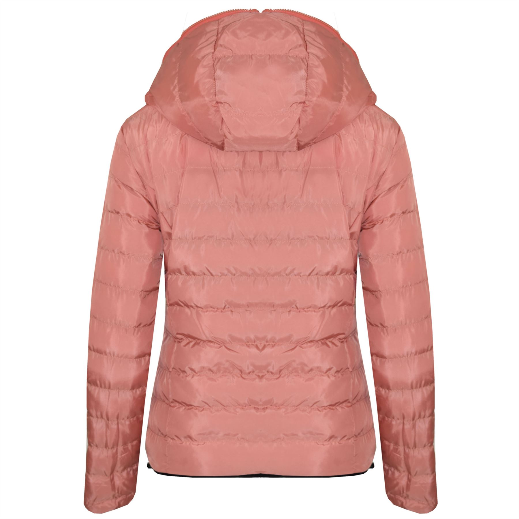 New-Womens-Hooded-Reversible-Puffa-Zip-Up-Quilted-Padded-Coat-Jacket thumbnail 3