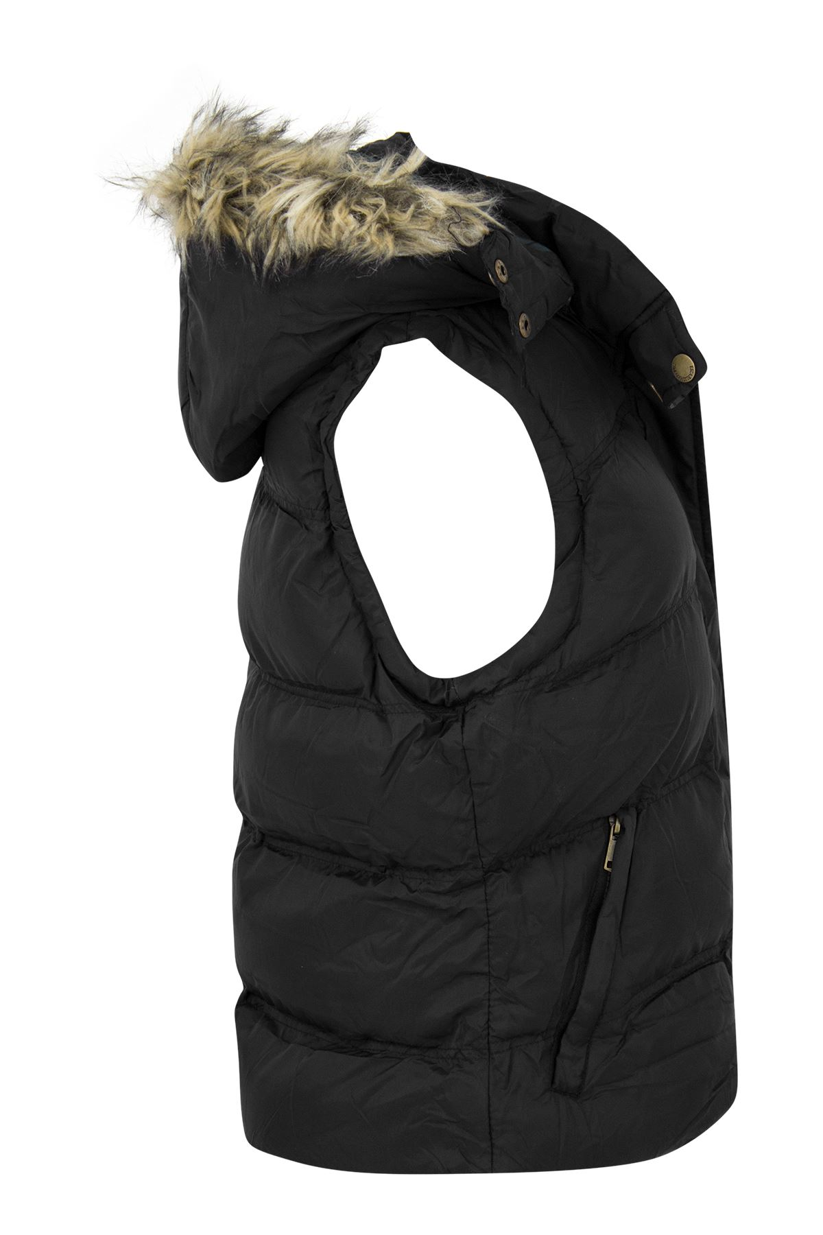New-Womens-Padded-Sleeveless-Gilet-Faux-Fur-Hooded-Puffer-Body-Warmer-Jacket thumbnail 3