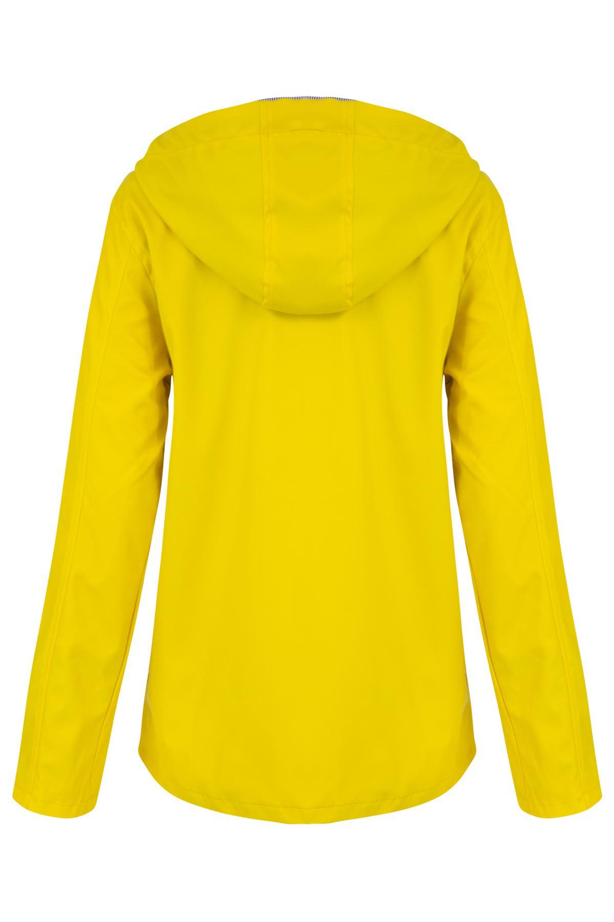 Womens-Ladies-Yellow-Festival-Water-proof-Rain-Outdoor-Mac-Raincoat-Jacket-Size thumbnail 8