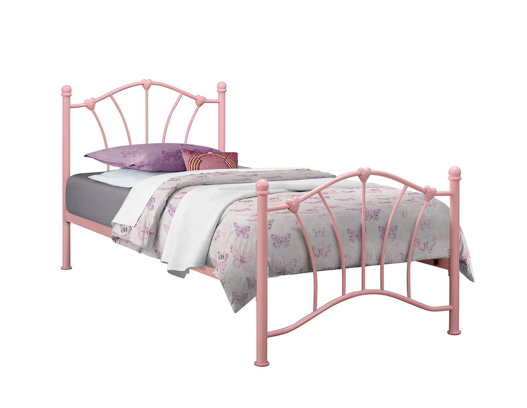 birlea sophia pink single 3ft 90cm girls metal bed frame. Black Bedroom Furniture Sets. Home Design Ideas