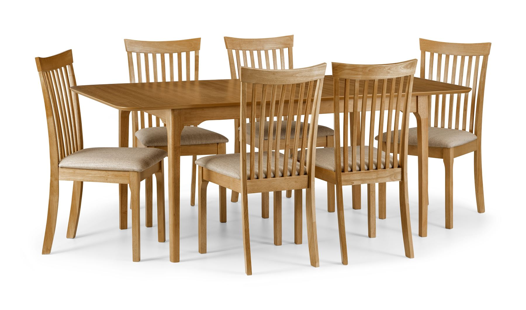 Julian Bowen Ibsen Light Oak Solid Wood Dining Chair With