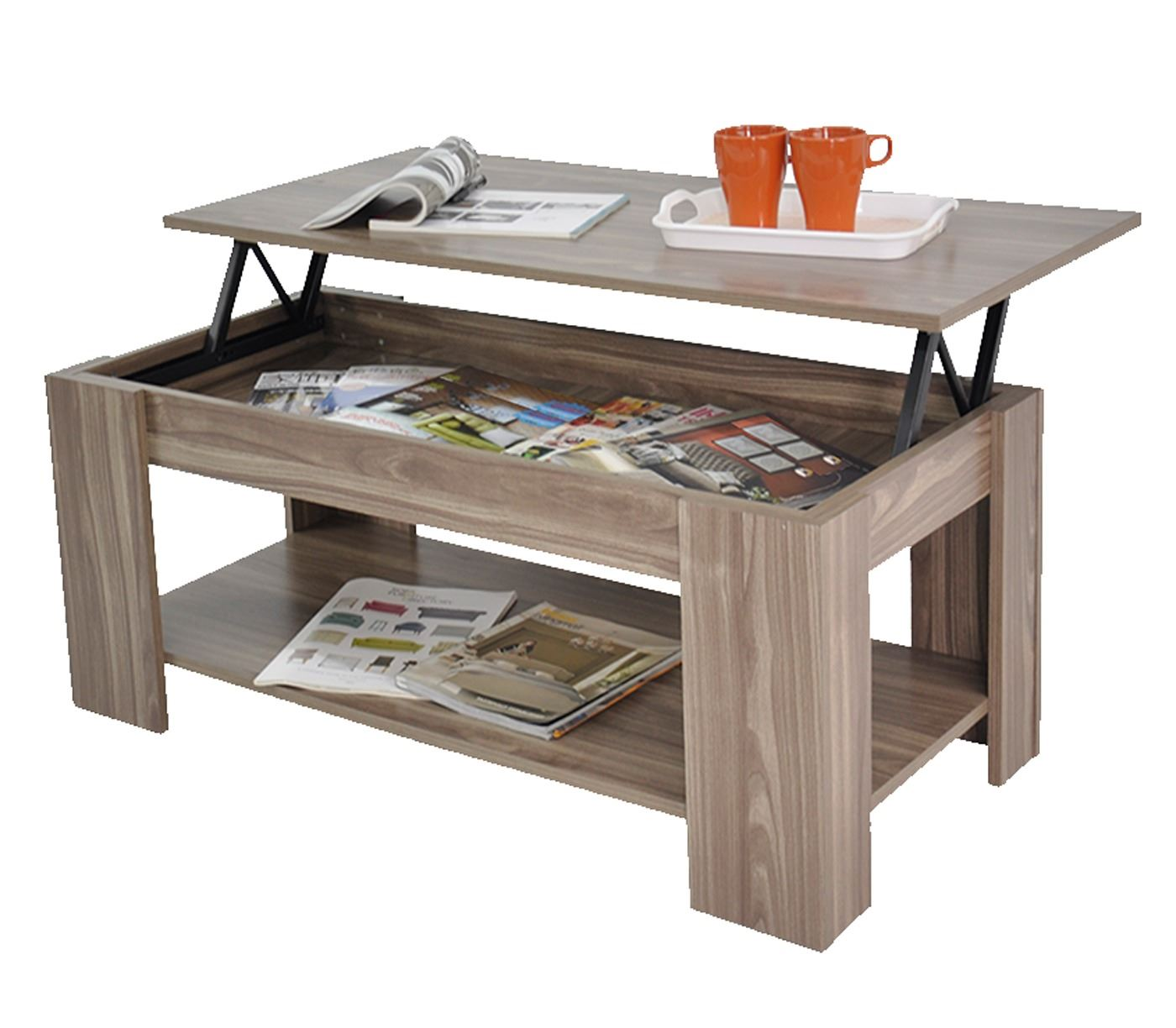Stephanie storage large solid lift up coffee table walnut wood shelf ebay Coffee table with shelf