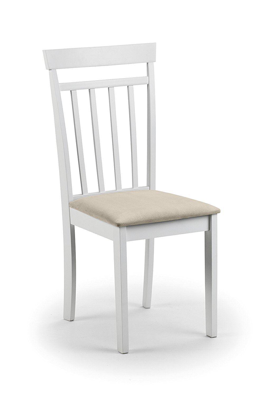 Julian Bowen Coast White Wood 2 X Kitchen Dining Chair