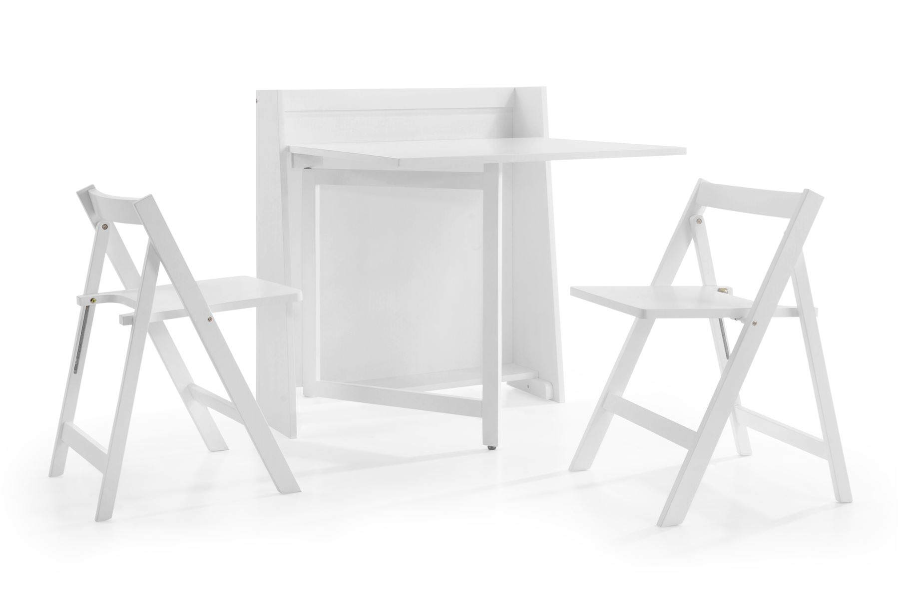 Julian Bowen Helsinki Space Saving pact Fold Down White Wood