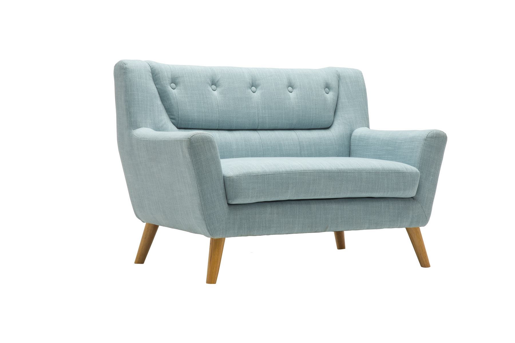 Birlea Lambeth 2 Seater Duck Egg Blue Medium Sofa Settee