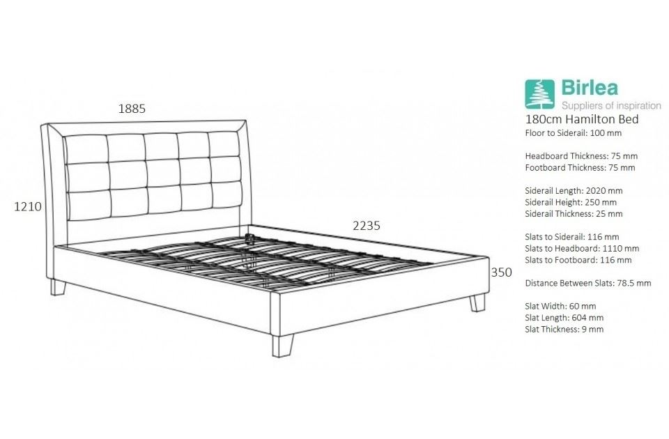 birlea hamilton super king size bed frame