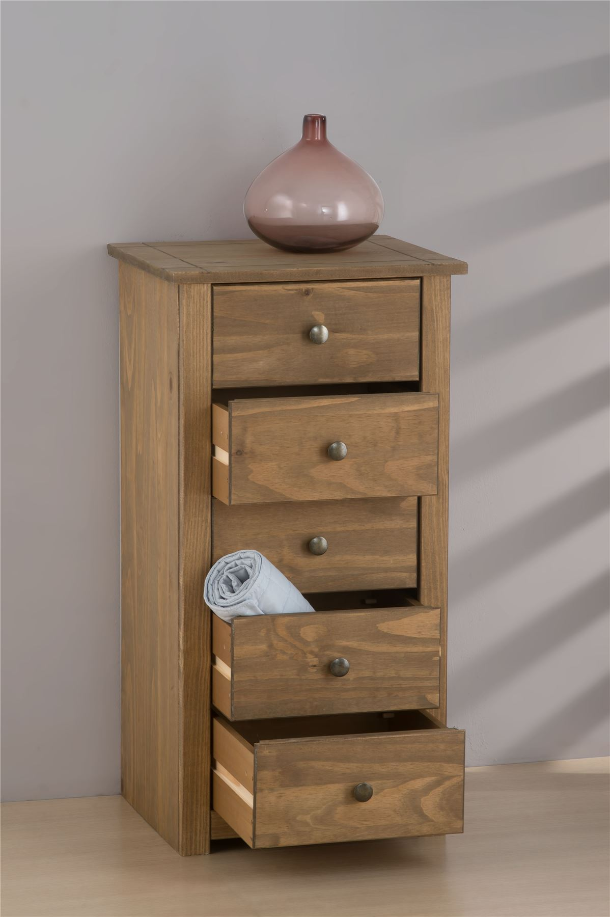 Birlea Santiago 5 Drawer Chest Drawers Corona Mexican Pine