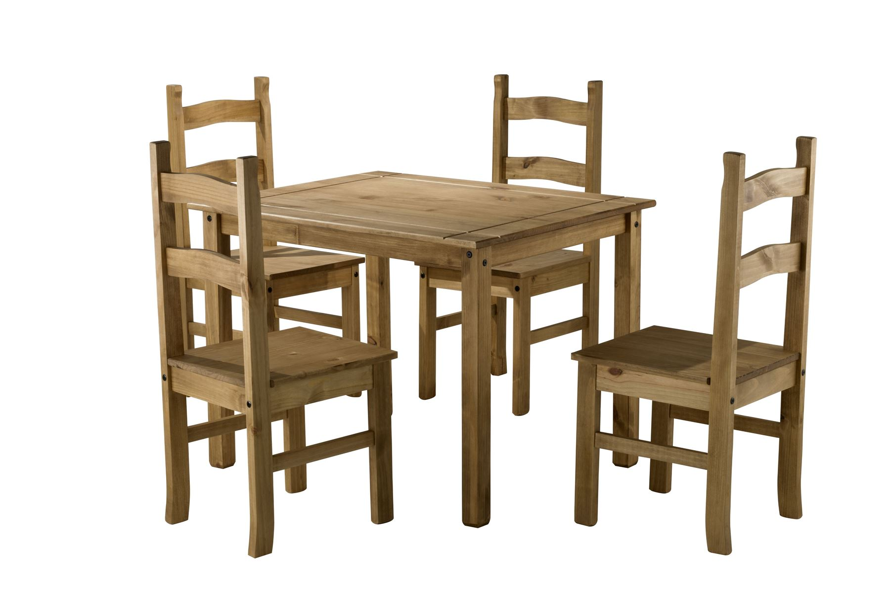 Corona Small Mexican Pine Dining Table 4 Chairs Solid Wood EBay