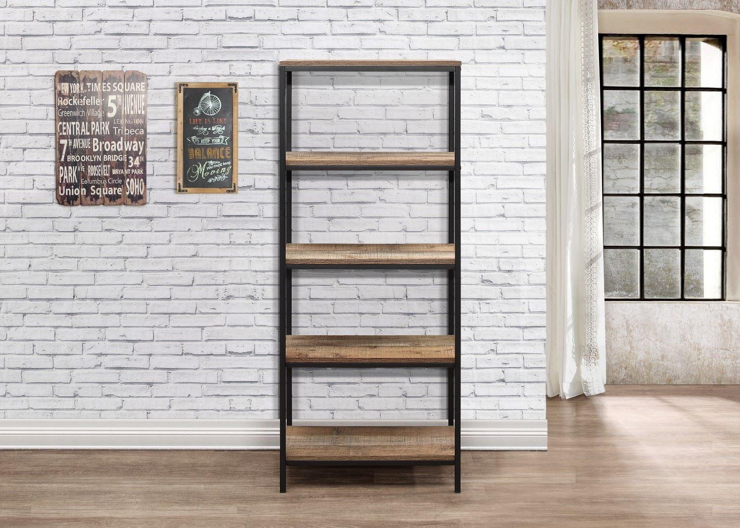 Birlea Urban Industrial Chic 5 Tier Shelving Unit Bookcase