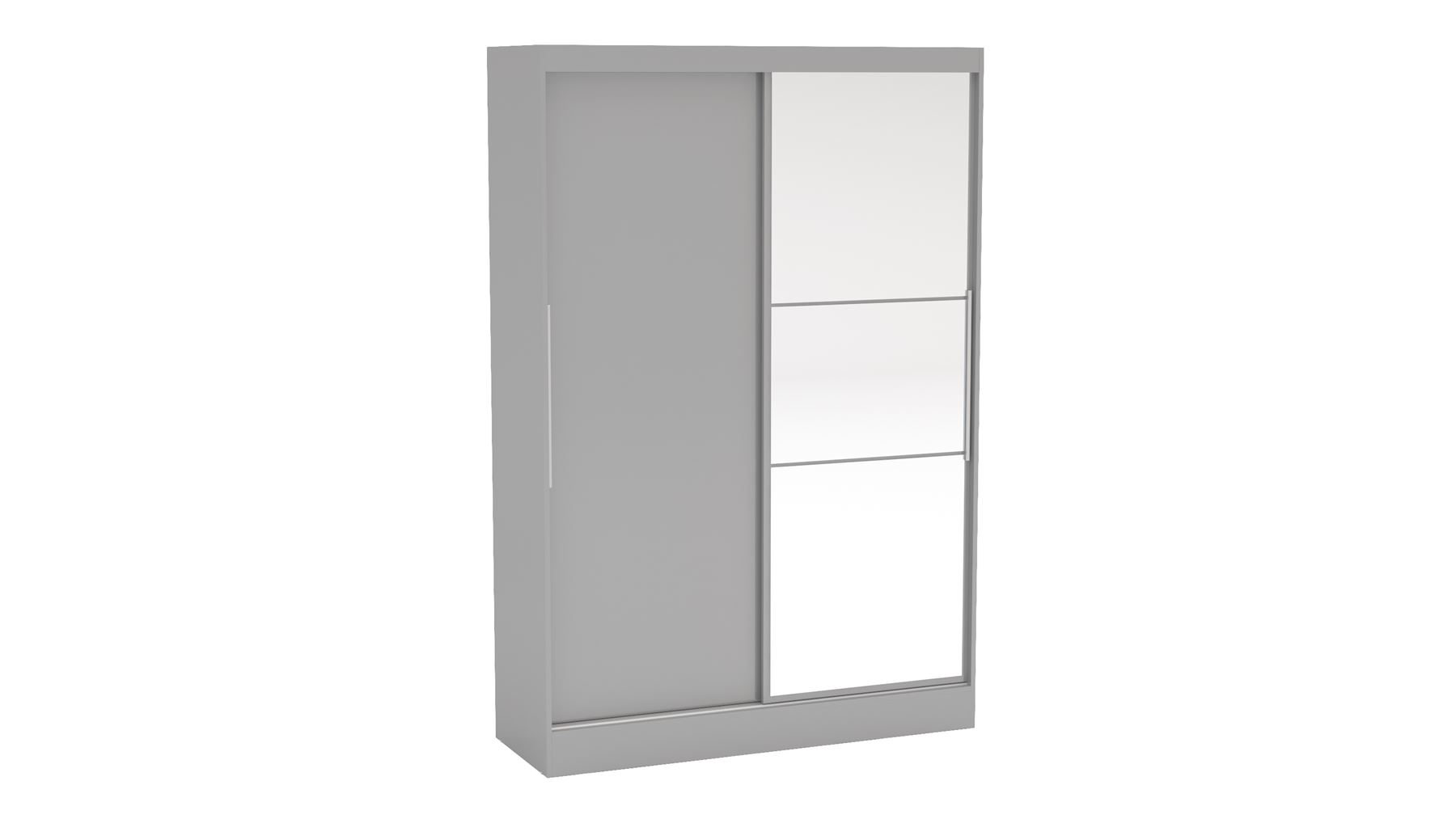 Birlea Grey Gloss Lynx Sliding Slider 2 Door Mirror