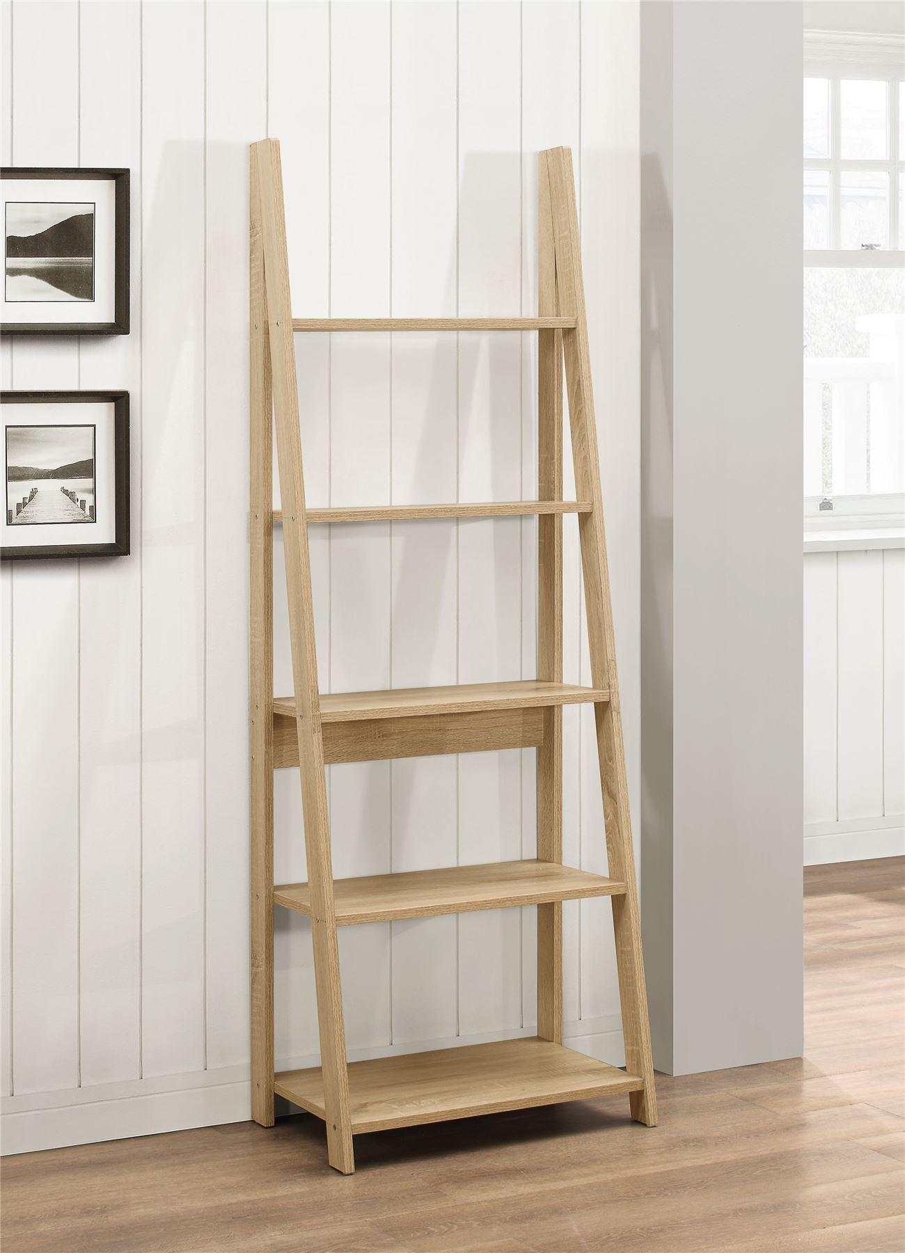 Ladder bookcase see picture - Birlea Nordic Scandinavian Retro Ladder Bookcase Shelving Shelf