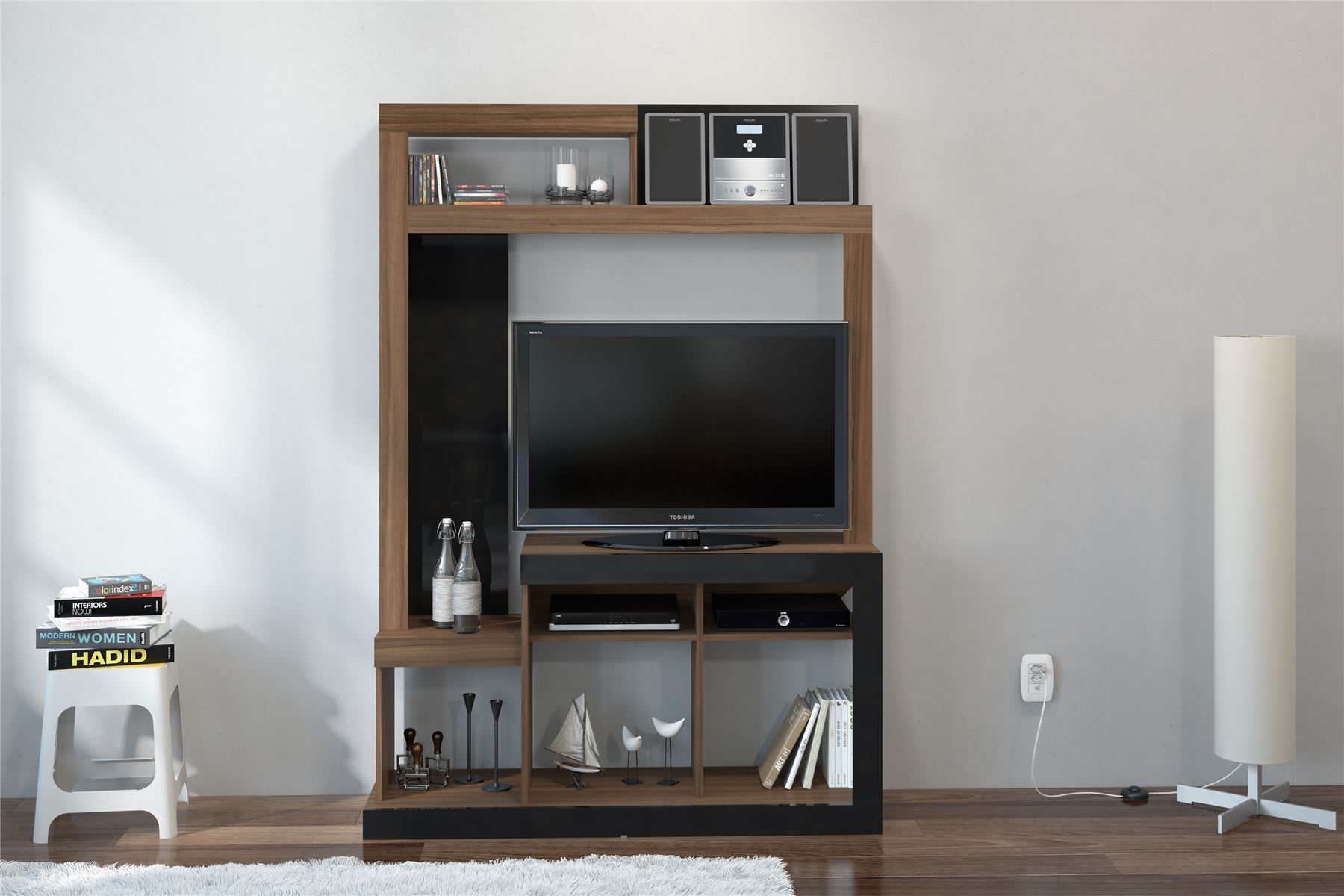 Details about Orka Black Gloss Walnut Cupboard TV Entertainment Wall Unit  Stand Cabinet 81f2ba318