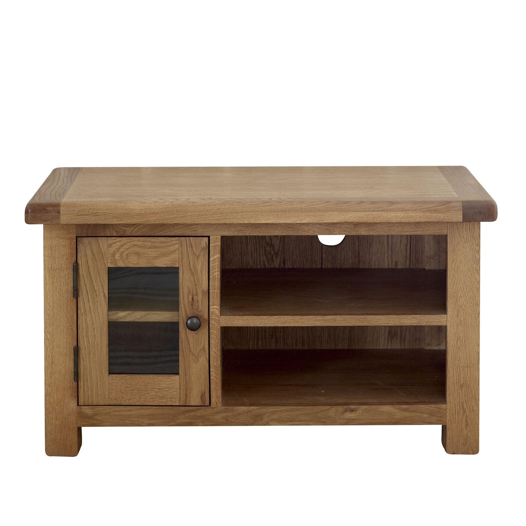 birlea malvern oak wood small tv unit cabinet solid. Black Bedroom Furniture Sets. Home Design Ideas