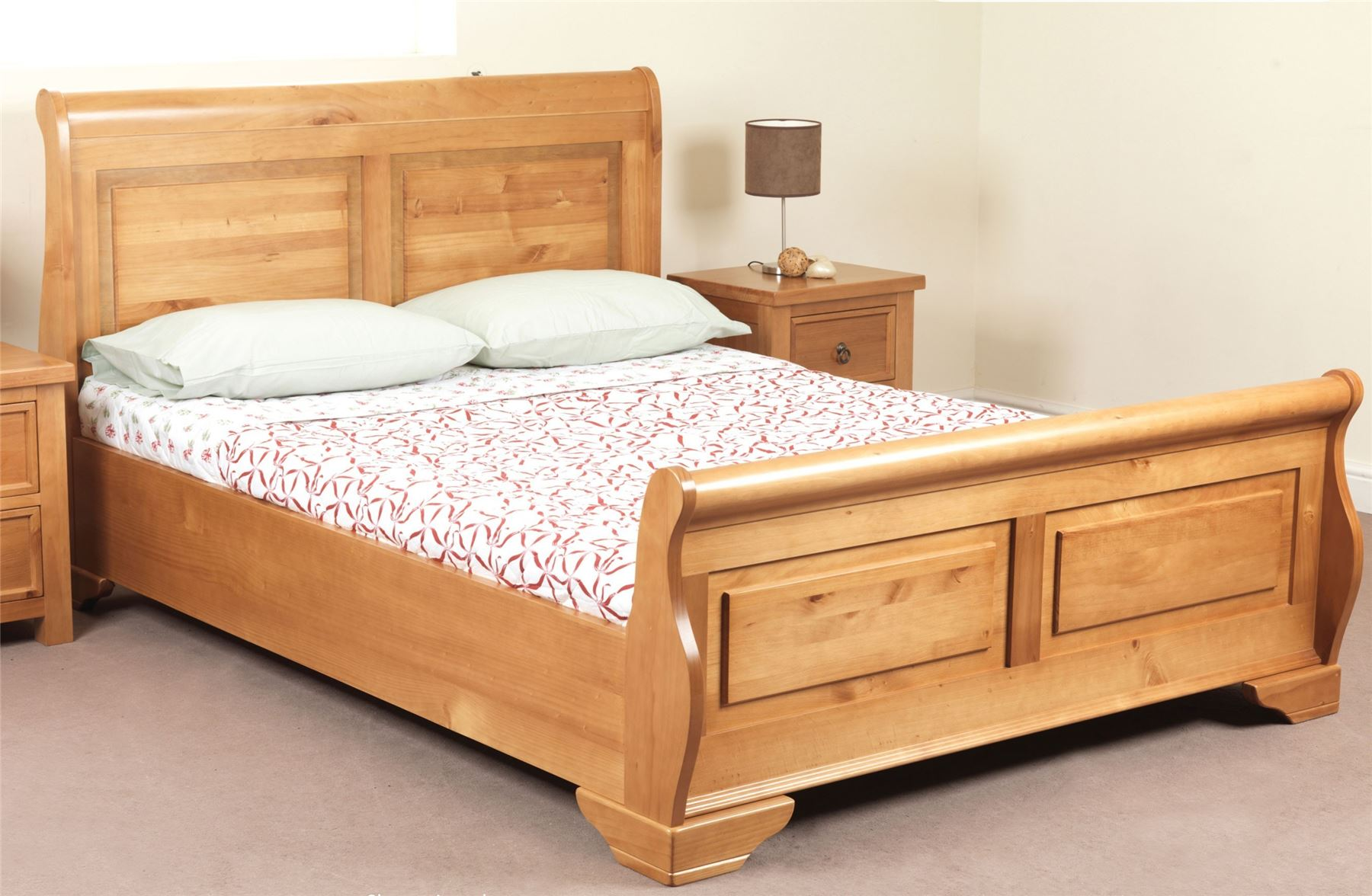 Sweet Dreams Jackdaw Oak Sleigh Bed Frame 135cm Double