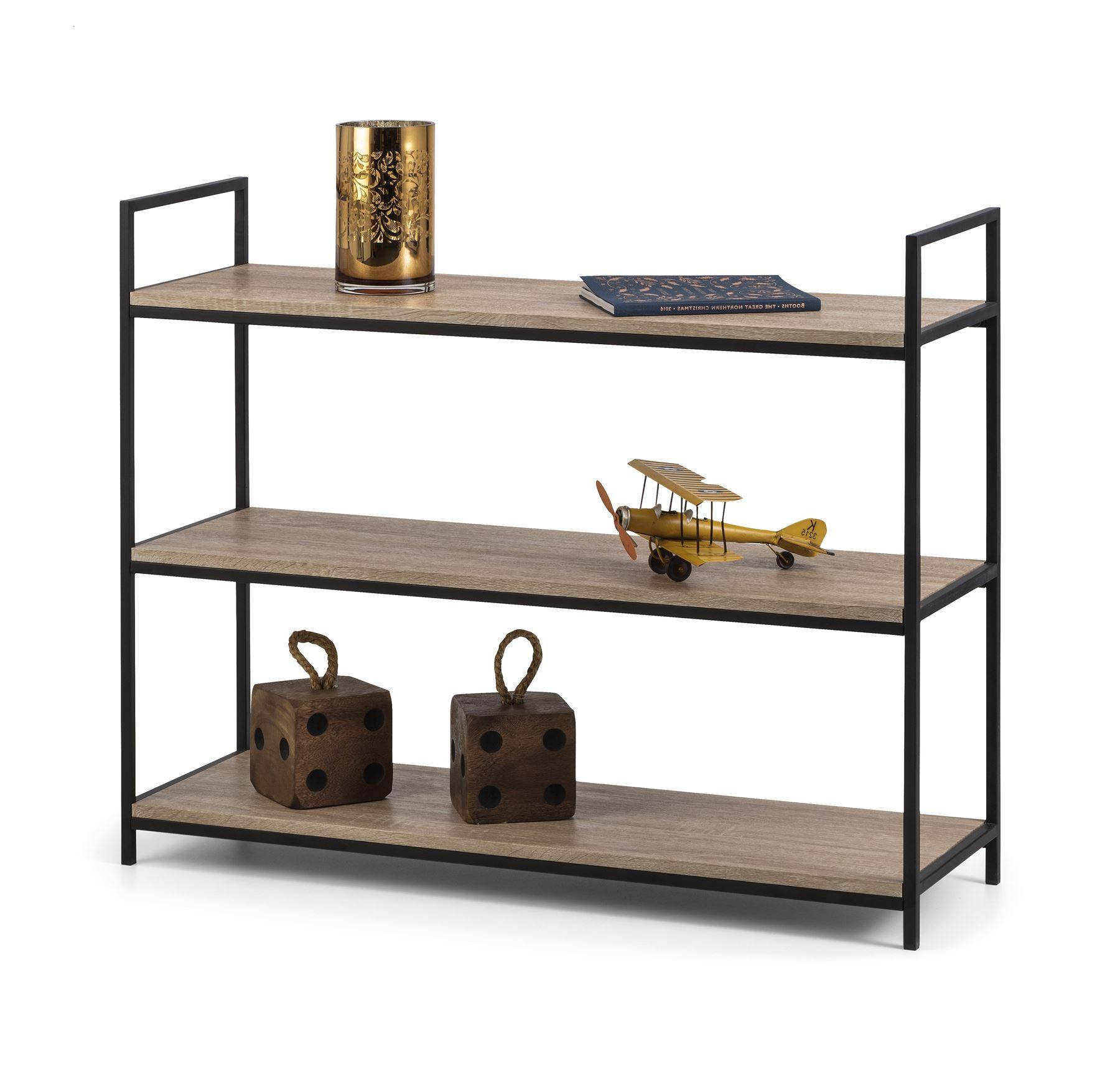 Tribeca Low Bookcase In Sonoma Oak Effect Home Furniture