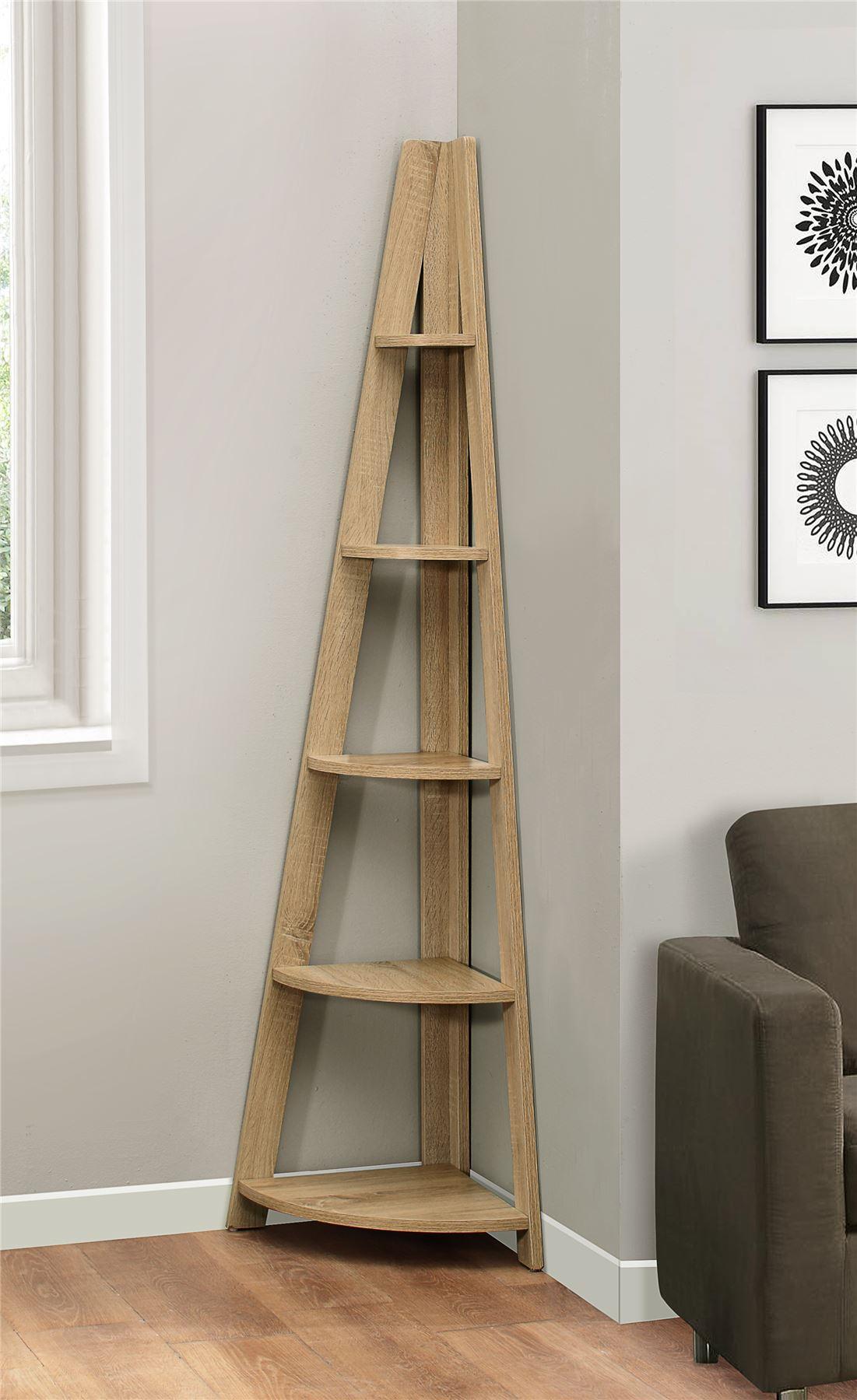 Birlea Nordic Scandinavian Retro Corner Ladder Bookcase Shelving Shelf Unit Oak 5060460024232 Ebay